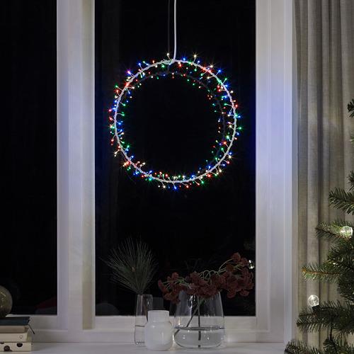 STRÅLA LED iekaramā lampa, Ø35 cm darbojas ar baterijām gredzena formas/mirgojošs dažādās krāsās