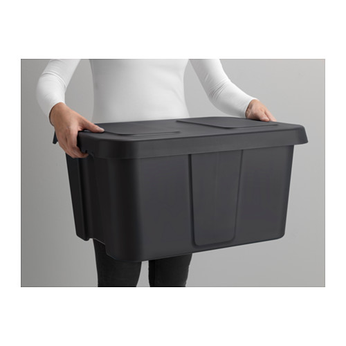 KLÄMTARE box with lid, in/outdoor