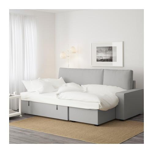 VILASUND sofa-lova su gulimuoju krėslu