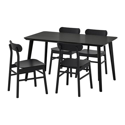 LISABO/RÖNNINGE laud ja 4 tooli