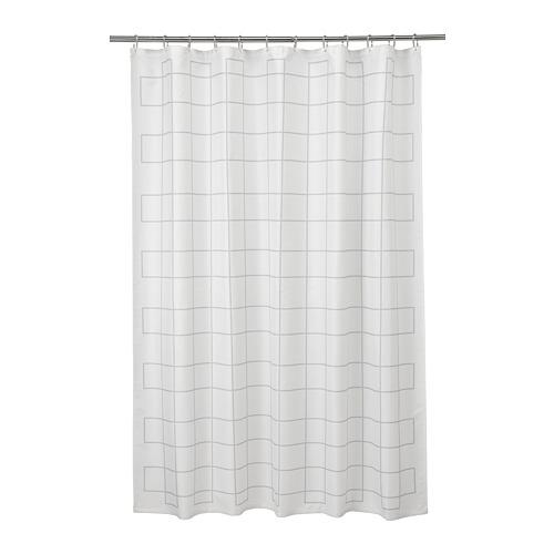 RÄLLSJÖN, dušikardin 180x200 cm valge/hall