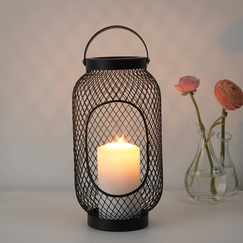 TOPPIG lantern for block candle