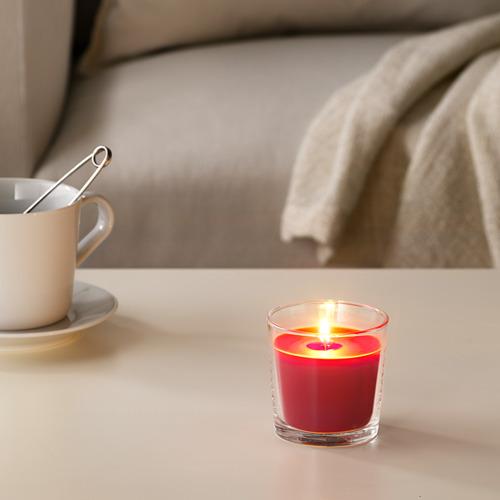 SINNLIG kvapioji žvakė stikl. indelyje