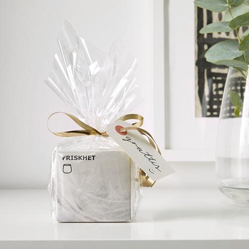 FRISKHET aromatizētā svece stikla traukā