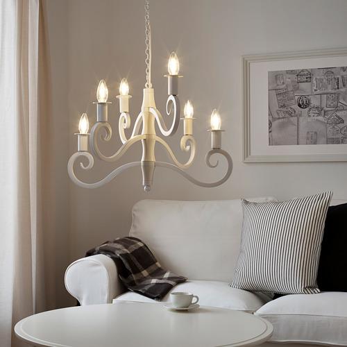 STRÅLA LED iekaramā lampa, 36x Ø56 cm 6 spuldzēm baltā krāsā