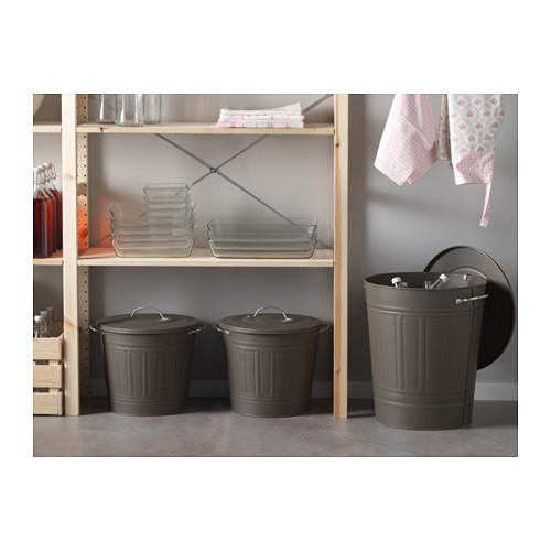 KNODD bin with lid