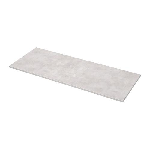 EKBACKEN darba virsma, 63.5x186 cm, gaiši pelēkā krāsā betona imitācija/lamināts