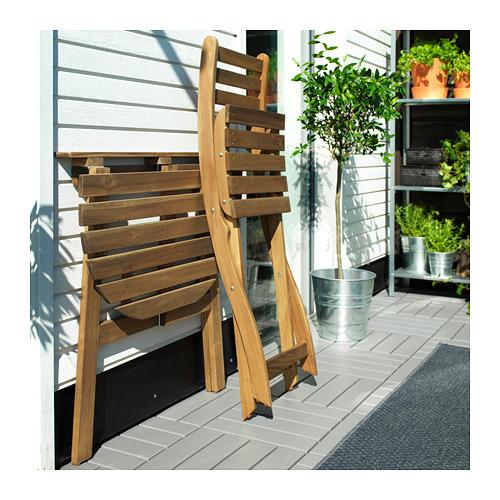 ASKHOLMEN sienas galds+1 saliek.krēsls, āra