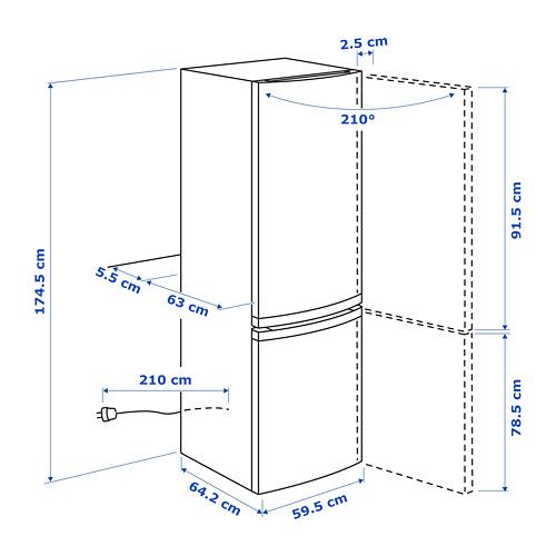 LAGAN šaldytuvas su šaldikliu A+
