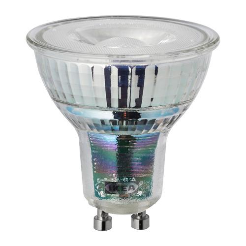 LEDARE LED spuldze, GU10, 345 lūmeni, Ø5 cm,  siltas gaismas regulēšana