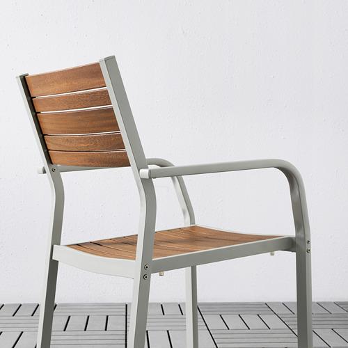 SJÄLLAND kėdė su porankiais, lauko