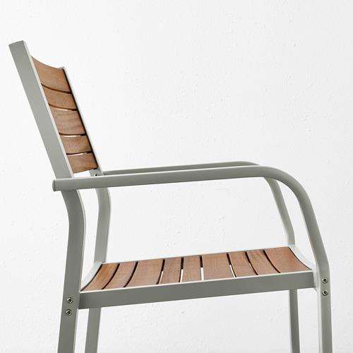 SJÄLLAND galds+6 krēsli ar r. balst., āra