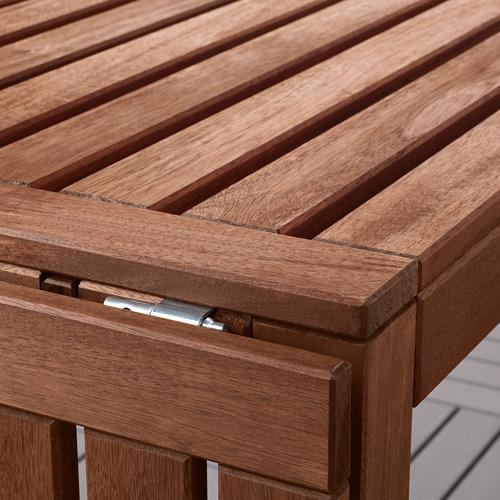 ÄPPLARÖ stalas/2 kėdės su porank./suoliukas