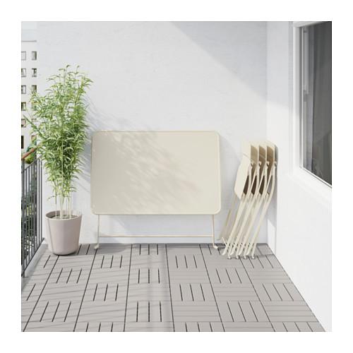 SALTHOLMEN galds+4 saliekami krēsli, āra