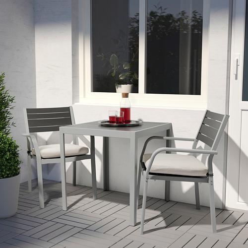SJÄLLAND galds+2 krēsli ar r. balst., āra
