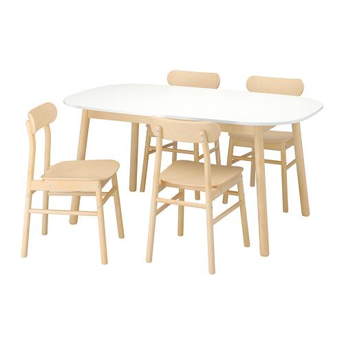RÖNNINGE/VEDBO stalas ir 4 kėdės