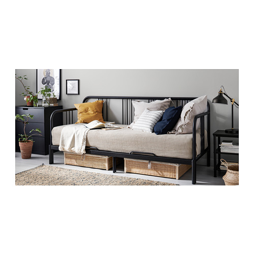 FYRESDAL day-bed with 2 mattresses