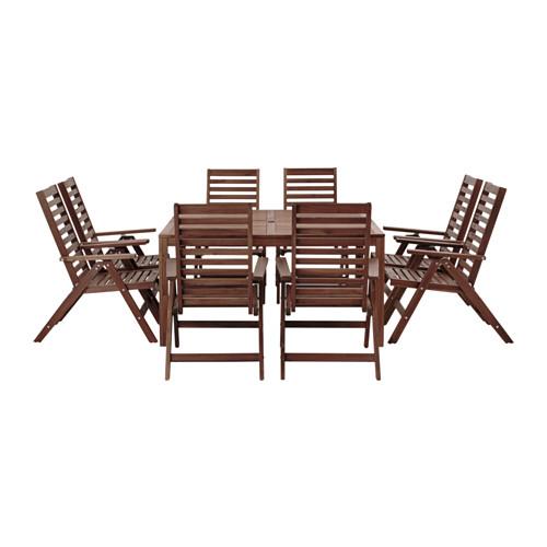 ÄPPLARÖ stalas ir 8 atlošiamosios kėdės