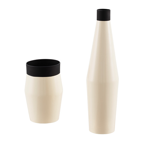 GLITTRIG vaza, 2 vnt.