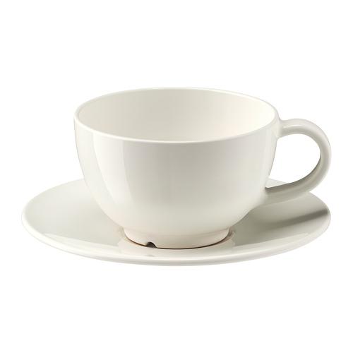 VARDAGEN puodelis su lėkštute