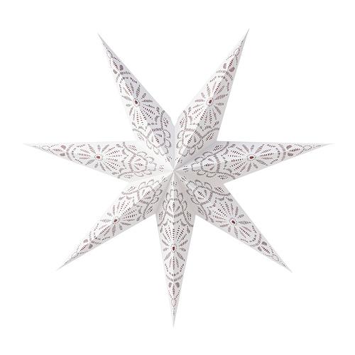 STRÅLA abažūrs, 1 gab., Ø70 cm ar rakstu/mežģīnes baltā krāsā