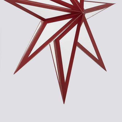 STRÅLA abažūrs, 1 gab., Ø70 cm sarkanā krāsā/baltā krāsā