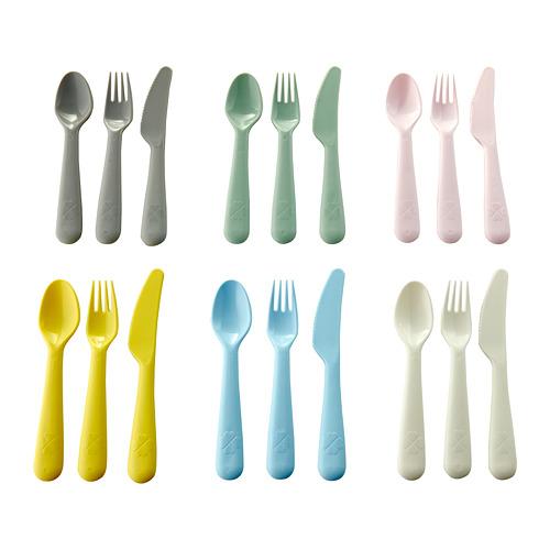KALAS galda piederumi, 18 gab., dažādās krāsās