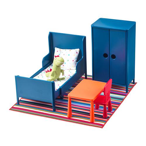 HUSET lėlės miegamojo baldai