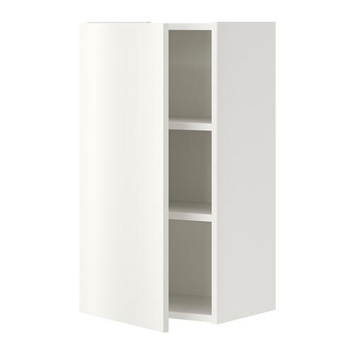 ENHET sienas skap. ar 2 pl. un durvīm, 40x30x75 cm baltā krāsā
