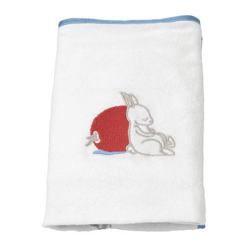 VÄDRA pārtinamās virsmas pārvalks,  trušu raksts/baltā krāsā, 48x74 cm