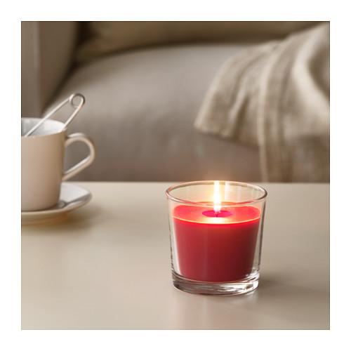 SINNLIG aromatizētā svece stikla traukā