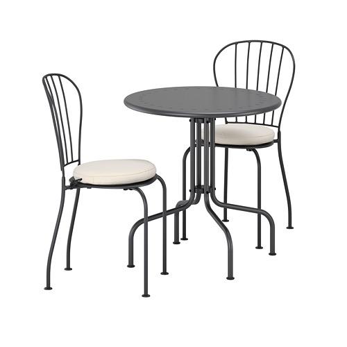 LÄCKÖ lauko stalas ir 2 kėdės