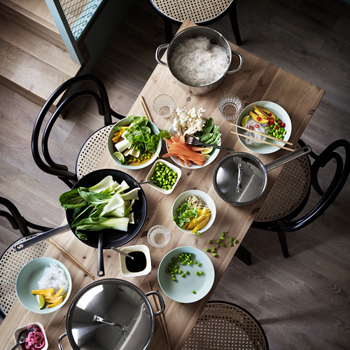 OUMBÄRLIG saucepan with lid