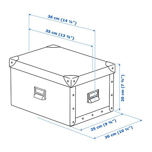 FJÄLLA dėžė su dangčiu