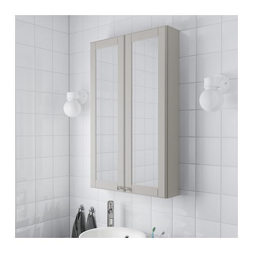 GODMORGON dvidurė spintelė su veidrodžiu