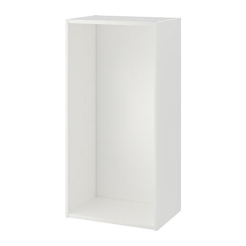 PLATSA rāmis, 60x40x120 cm baltā krāsā