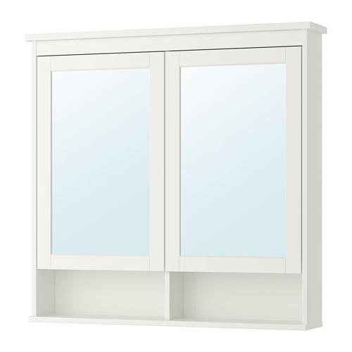 HEMNES spoguļskapītis ar 2 durvīm