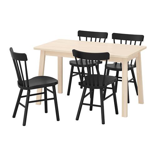 NORRARYD/NORRÅKER galds un 4 krēsli