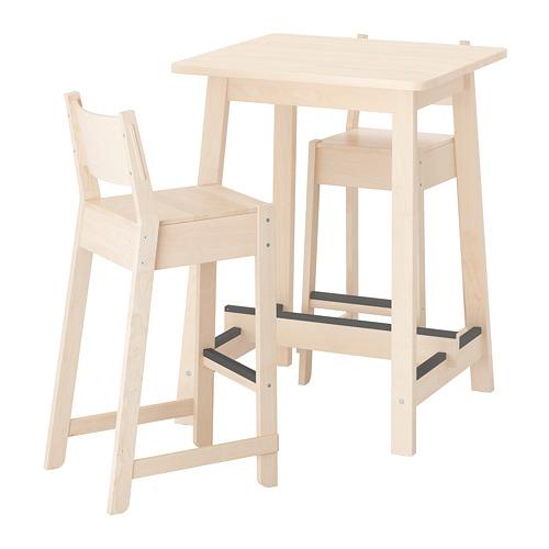 NORRÅKER/NORRÅKER bāra galds un 2 krēsli
