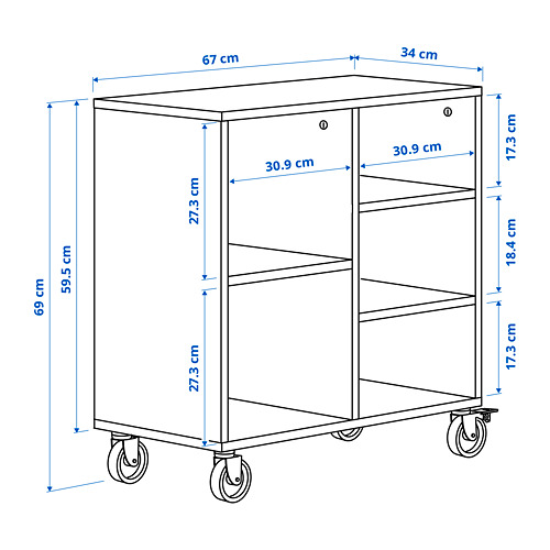 RÅVAROR shelving unit on castors