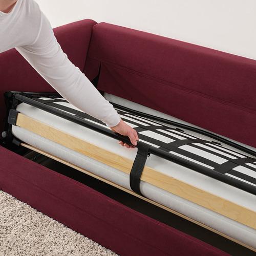 GRÖNLID trīsvietīgs guļamdīvāns