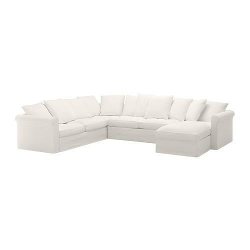 GRÖNLID Piecvietīga stūra dīvāna pārv.