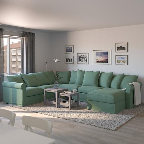 GRÖNLID kampinė sofa-lova, 5 vietų