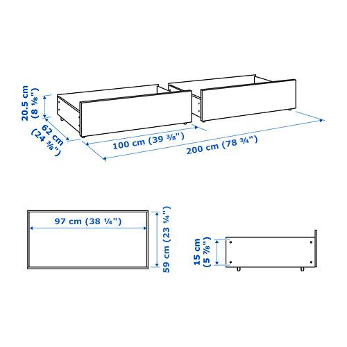 MALM lovadėžė aukštesniems lovų rėmams