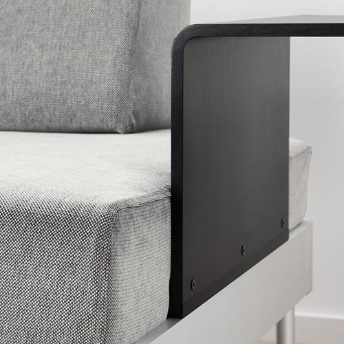 DELAKTIG trīsvietīgs dīvāns ar galdu, lampu