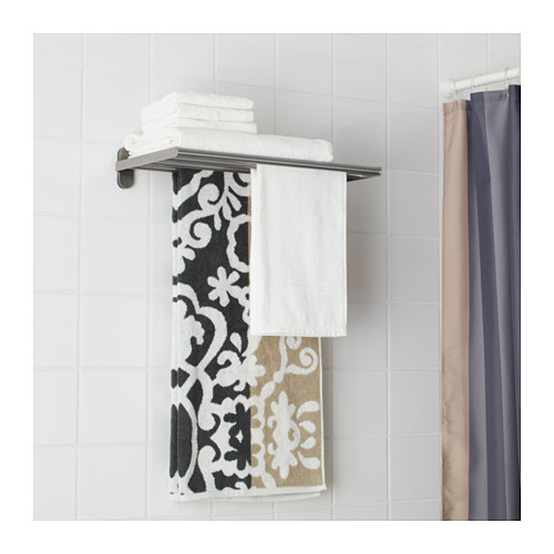 BROGRUND wall shelf with towel rail