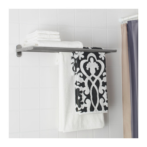 BROGRUND wall shelf with towel rail