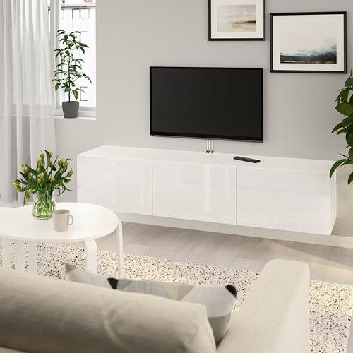 BESTÅ TV staliukas su durelėmis