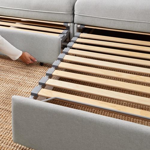 VALLENTUNA dvivietė mod. sofa, 2 sofos-lovos