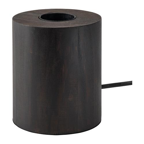 BLEKKLINT galda lampa, 11 cm, tumši brūnā krāsā koks